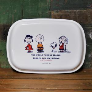 スヌーピー フタ付きランチプレート FRIENDS 子供食器 SNOOPY PEANUTS メラミン食器|colors-kitchen