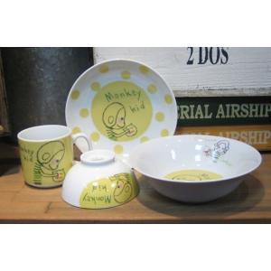シンジカトウ 子供ごはんセット サル アニマルキッド colors-kitchen