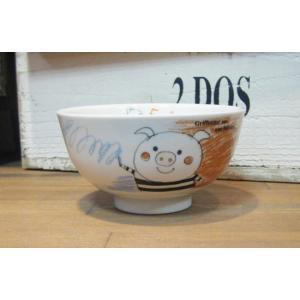 シンジカトウ 子供 お茶碗 ブタ|colors-kitchen