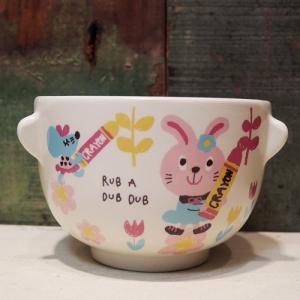 Rub a dub dub 茶碗 汁椀 セット うさぎ ラブアダブダブ ベビー食器|colors-kitchen|04