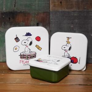 スヌーピー ランチボックス 3Pセット PEANUTS シールランチボックス|colors-kitchen