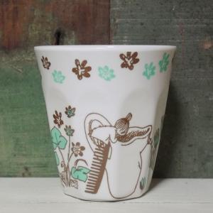 ムーミン メラミンカップ ハイド&シーク リトルミイ 覗き込み タンブラー|colors-kitchen