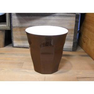 カフェラテ タンブラーカップ チョコレート コップ メラミンカップ|colors-kitchen