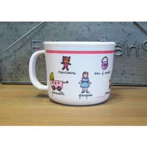 ラシェーズロング ハンドル付きカップ 女の子 マグカップ|colors-kitchen