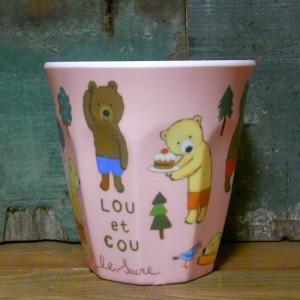 くまのルー LOU et COU タンブラーカップ ファミリー メラミン食器 コップ|colors-kitchen