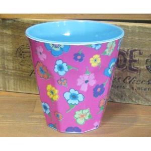 ライス タンブラーカップ 小花 ピンク コップ rice|colors-kitchen