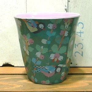 ライス タンブラーカップ 小鳥 グリーン コップ rice|colors-kitchen
