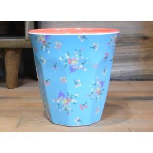ライス タンブラーカップ 小花 ライトブルー コップ rice|colors-kitchen