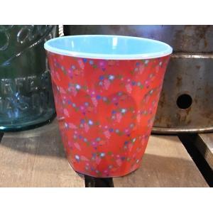 ライス タンブラーカップ 小花 レッド コップ rice|colors-kitchen