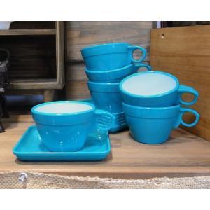 カップ&ソーサー 6客セット ターコイズ|colors-kitchen