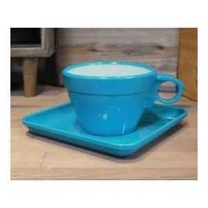 カップ&ソーサー 6客セット ターコイズ|colors-kitchen|02