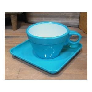 カップ&ソーサー 6客セット ターコイズ|colors-kitchen|03
