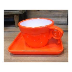 カップ&ソーサー 6客セット オレンジ|colors-kitchen|02