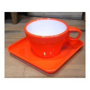 カップ&ソーサー 6客セット オレンジ|colors-kitchen|03