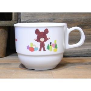 くまのがっこう スタックマグ メラミン食器 マグカップ|colors-kitchen