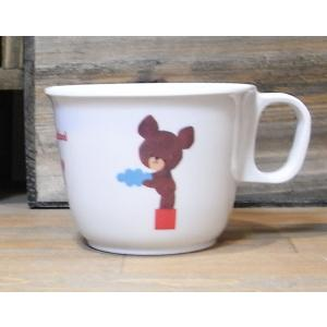 くまのがっこう ハンドル付きメラミンカップ メラミン食器 マグカップ|colors-kitchen