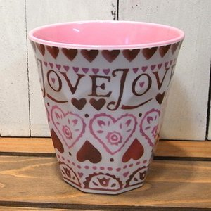 エマブリッジウォーター タンブラーカップ LOVE コップ メラミンカップ|colors-kitchen