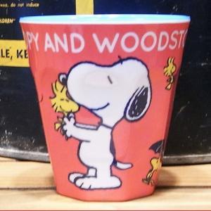 スヌーピー タンブラーカップ SN&WOODSTOCK メラミンカップ|colors-kitchen