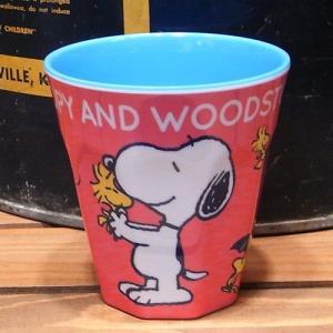 スヌーピー タンブラーカップ SN&WOODSTOCK メラミンカップ colors-kitchen 02