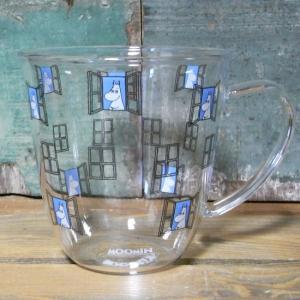 ムーミン 耐熱 腰丸マグ MOOMIN ガラス製 マグカップ|colors-kitchen