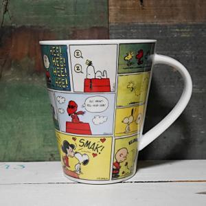スヌーピー ビッグマグ レトロコミックス マグカップ SNOOPY コップ PEANUTS|colors-kitchen