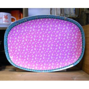 ライス オーバルプレート 小花ピンク トレイ お盆 rice|colors-kitchen