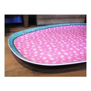 ライス オーバルプレート 小花ピンク トレイ お盆 rice colors-kitchen 02