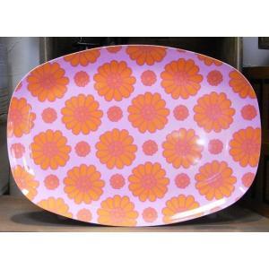 ライス オーバルプレート フラワーオレンジ トレイ お盆 rice|colors-kitchen