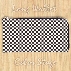 L字ファスナー長財布 チェッカー Model:LWAT19 名入れ ネーム入れ プレゼント ギフト オリジナルプリント|colorstage