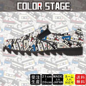 スニーカー スリッポン カセットテープ柄 カラーModel:レディースSLP-L17SS-13|colorstage