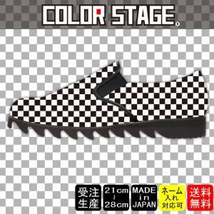 スニーカー スリッポン 白黒チェッカーModel:メンズSLP-M17SS-16|colorstage