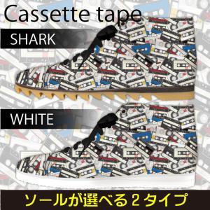 スニーカー ハイカットカセットテープ柄 カラー Model:メンズSN-H17SS-13|colorstage