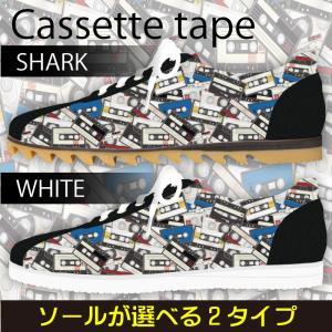 スニーカー ローカット カセットテープ柄 カラー Model:メンズSN-L17SS-15|colorstage