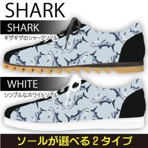 スニーカー ローカット サメ柄 鮫 シャークデザイン Model:メンズSN-L17SS-32|colorstage