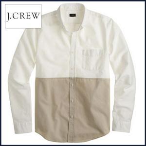 ジェイクルー 長袖シャツ J.Crew カラーブロック オッ...