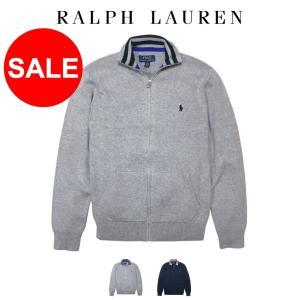 ポロ ラルフローレン ニット セーター フルジップ Polo Ralph Lauren ボーイズ B...