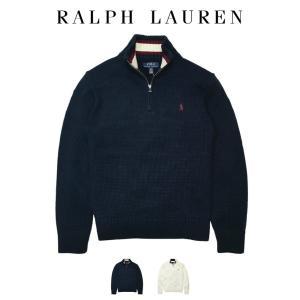 ポロ ラルフローレン ニット セーター ハーフジップ Polo Ralph Lauren ボーイズ ...