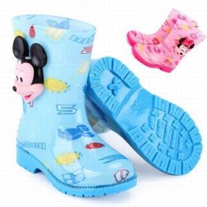 Disney(ディズニー)ミッキーマウス ミニーマウス レインブーツ 子供用 キッズ 長靴 雨靴 防...