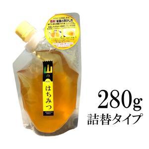 [Y] 【メール便】 国産はちみつ 山のはちみつ [300g 詰替タイプ] ヒグチ園 山陰・山陽地方の山間で採れた蜂蜜です。 ハチミツ