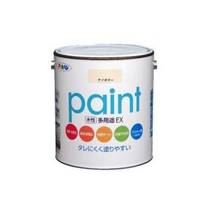 [Y] アサヒペン 水性多用途EX ミルキーホワイト (全4色) [3L] 水性アクリル樹脂塗料|colour-harmony