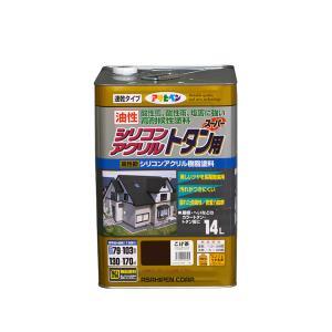 送料無料 アサヒペン 油性シリコンアクリルトタン用 14L 屋根 トタン ひさし シリコン 速乾|colour-harmony