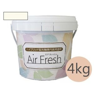 [Y] イサム塗料 AirFresh (エアフレッシュ) Shiro〜白のやさしさ〜 NO.002ミルクホワイト(全100色) [4kg]|colour-harmony