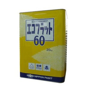[Y] ニッペ エコフラット60 白色 [20kg] 日本ペイント・環境配慮形・合成樹脂・室内・ペンキ・水性