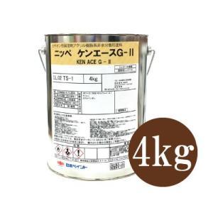 [Y] ニッペ ケンエースG-ll つや消し シャニンブルー [4kg] 日本ペイント・ヤニ・しみ止めカチオン形アクリル樹脂系塗料