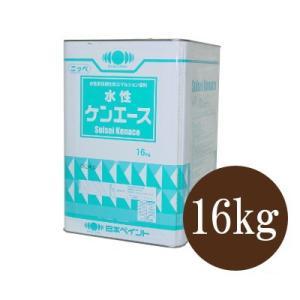 [Y] 【送料無料】 ニッペ 水性ケンエース つや消し ブラック [16kg] 日本ペイント・軒天・室内壁・水性塗料|colour-harmony