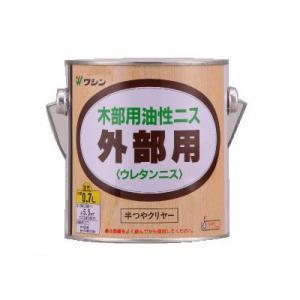 [Y] 和信ペイント 油性 外部用ウレタンニス (半つやクリヤー) [0.7L] 1液ウレタン樹脂塗料|colour-harmony
