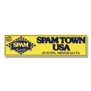 ステッカー SPAM スパム バンパーデカール SPAMTOWN USA 縦7.7×横29.3cm アメリカ雑貨 アメリカン雑貨|colour