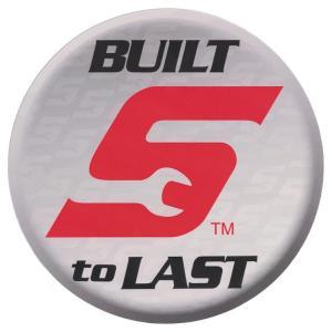 ステッカー 車 スナップオン デカール BUILT S to LAST 丸型 グレー 直径15.2cm Snap-on シール アメリカ雑貨 アメリカン雑貨|colour