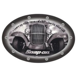 ステッカー 車 スナップオン デカール I CAN'TFIX YOUR PROBLEM オーバル 車 縦10.1×横15.2cm Snap-on シール アメリカ雑貨 アメリカン雑貨|colour