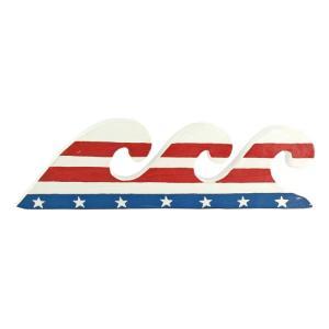 置物 USA ウェーブスタンド PUW-1711 ハワイアンインテリア 西海岸 オブジェ 星条旗 アメリカ国旗 アメリカ雑貨 アメリカン雑貨|colour